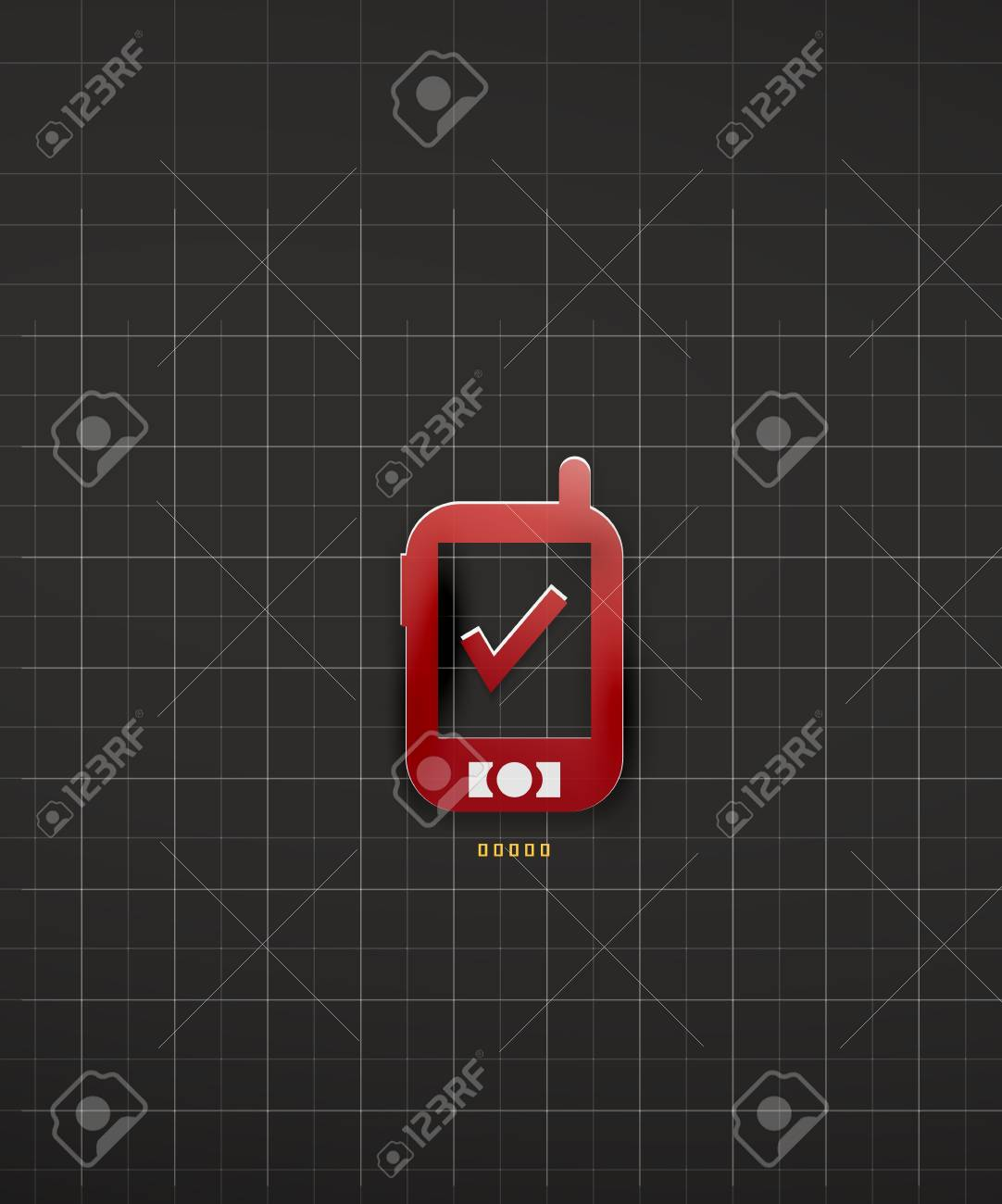 Mobile phone black technology design Stock Vector - 20150567