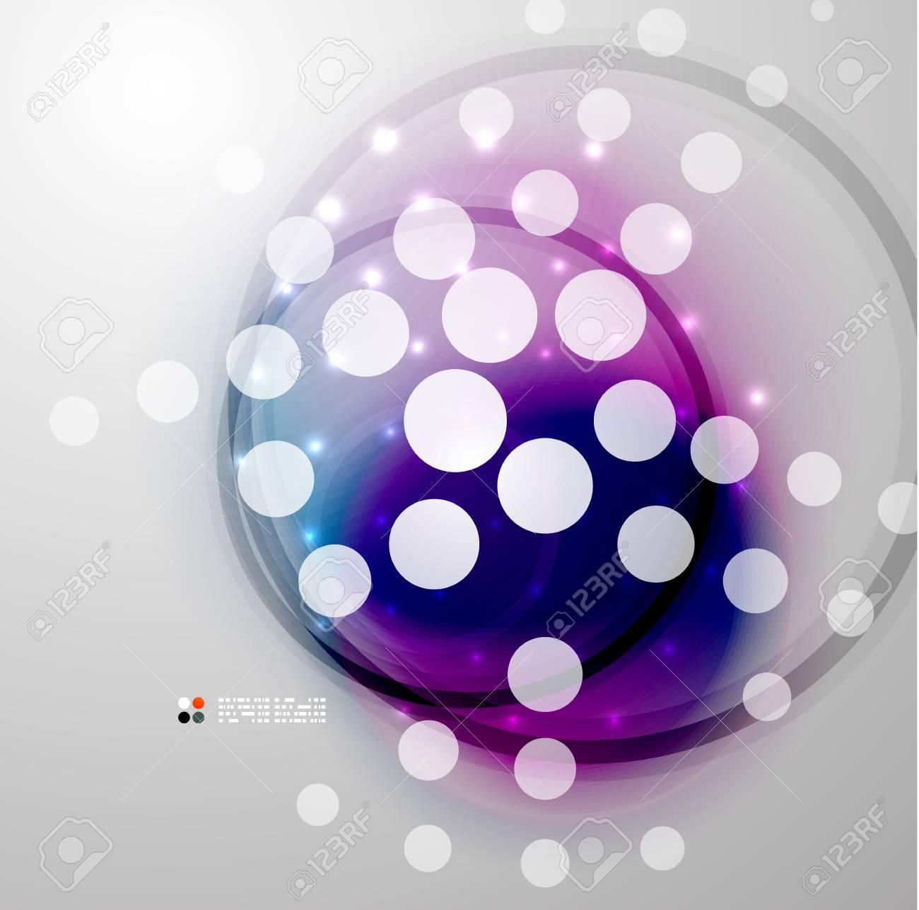 Futuristic colorful circles Stock Vector - 21042681