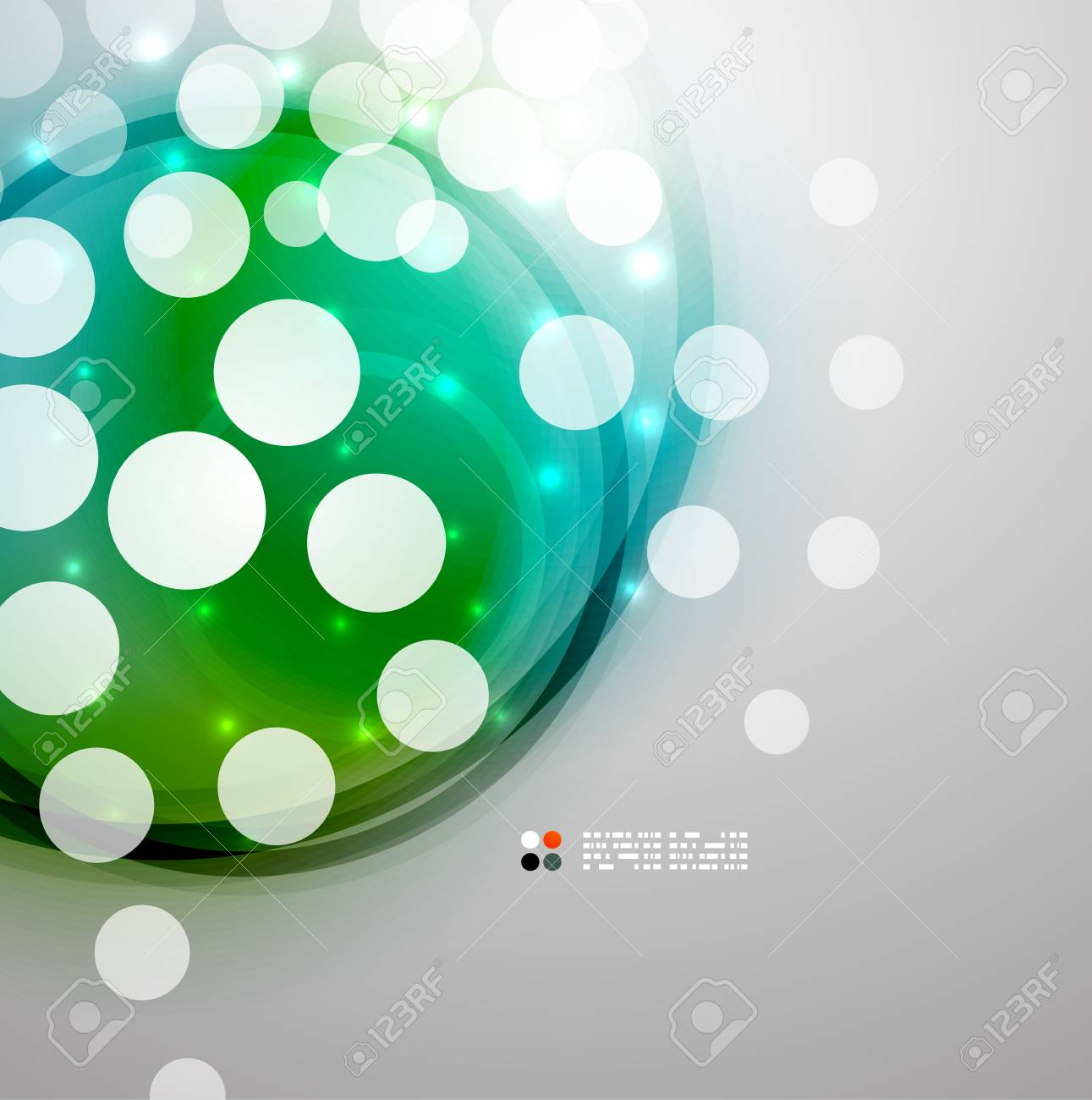 Futuristic colorful circles Stock Vector - 21042722