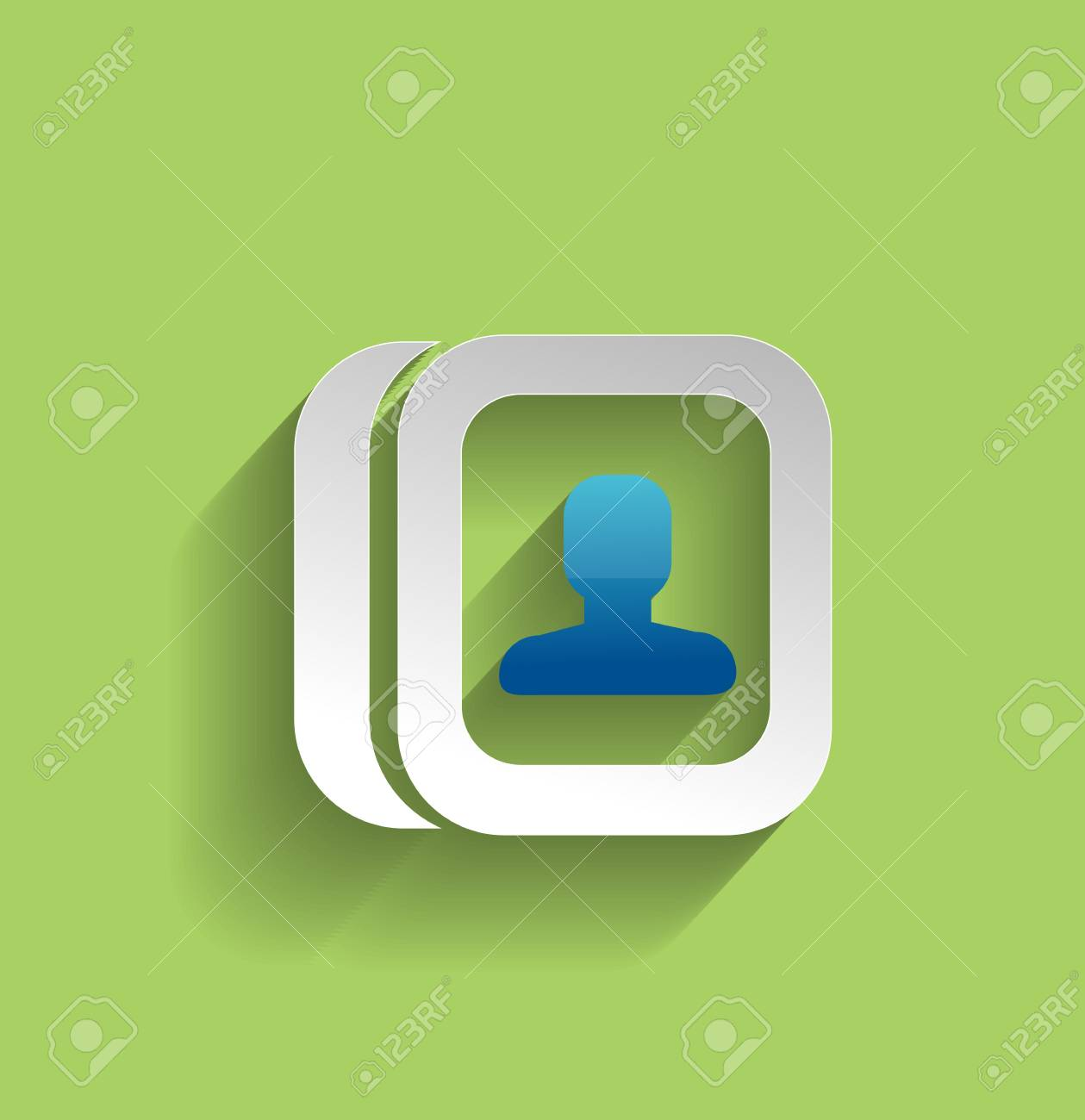 contacts modern flat icon Stock Vector - 21220423