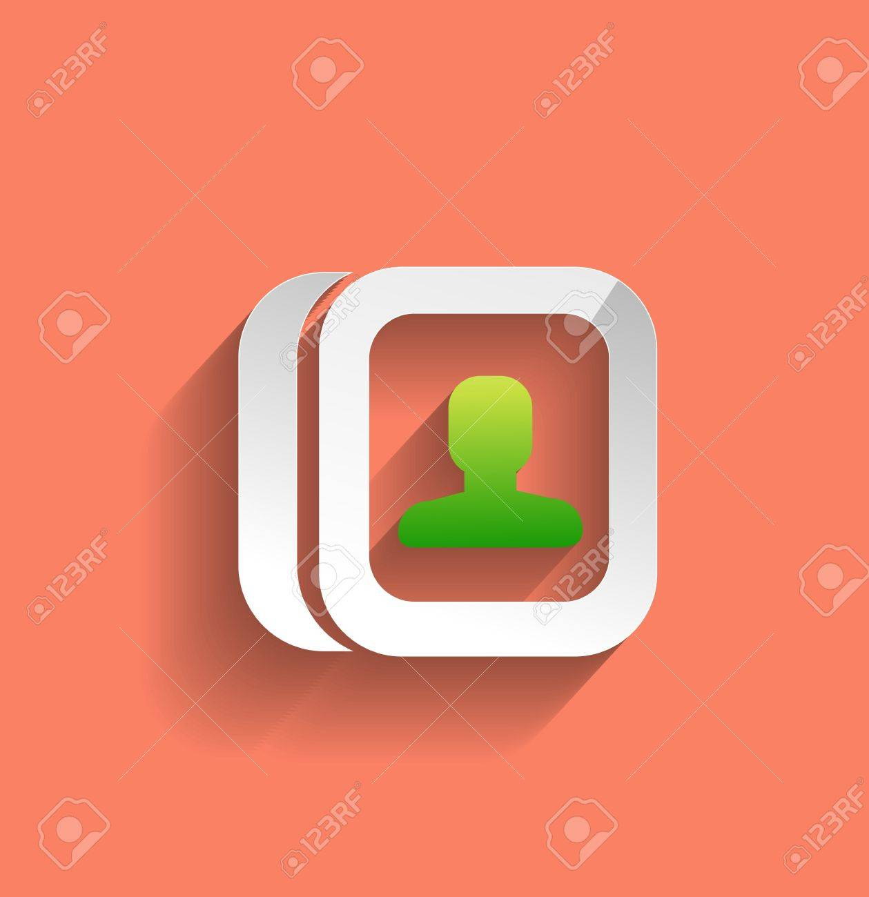 contacts modern flat icon Stock Vector - 21220427