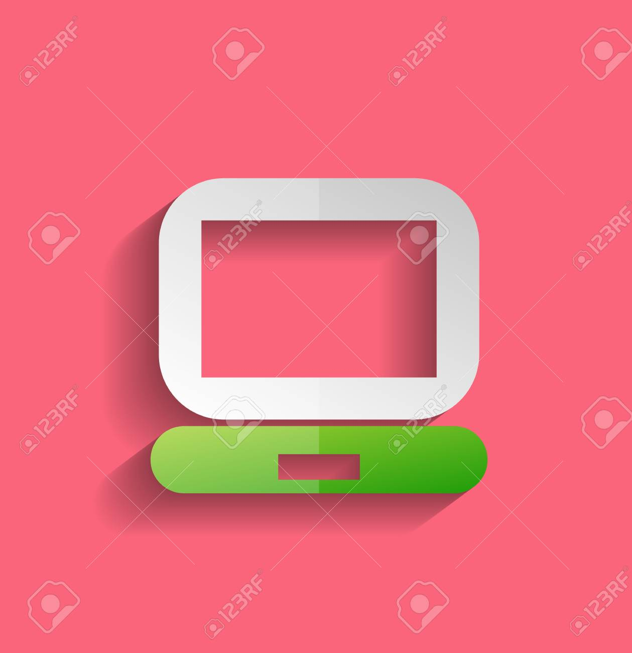 computer icon modern flat design Stock Vector - 21220431