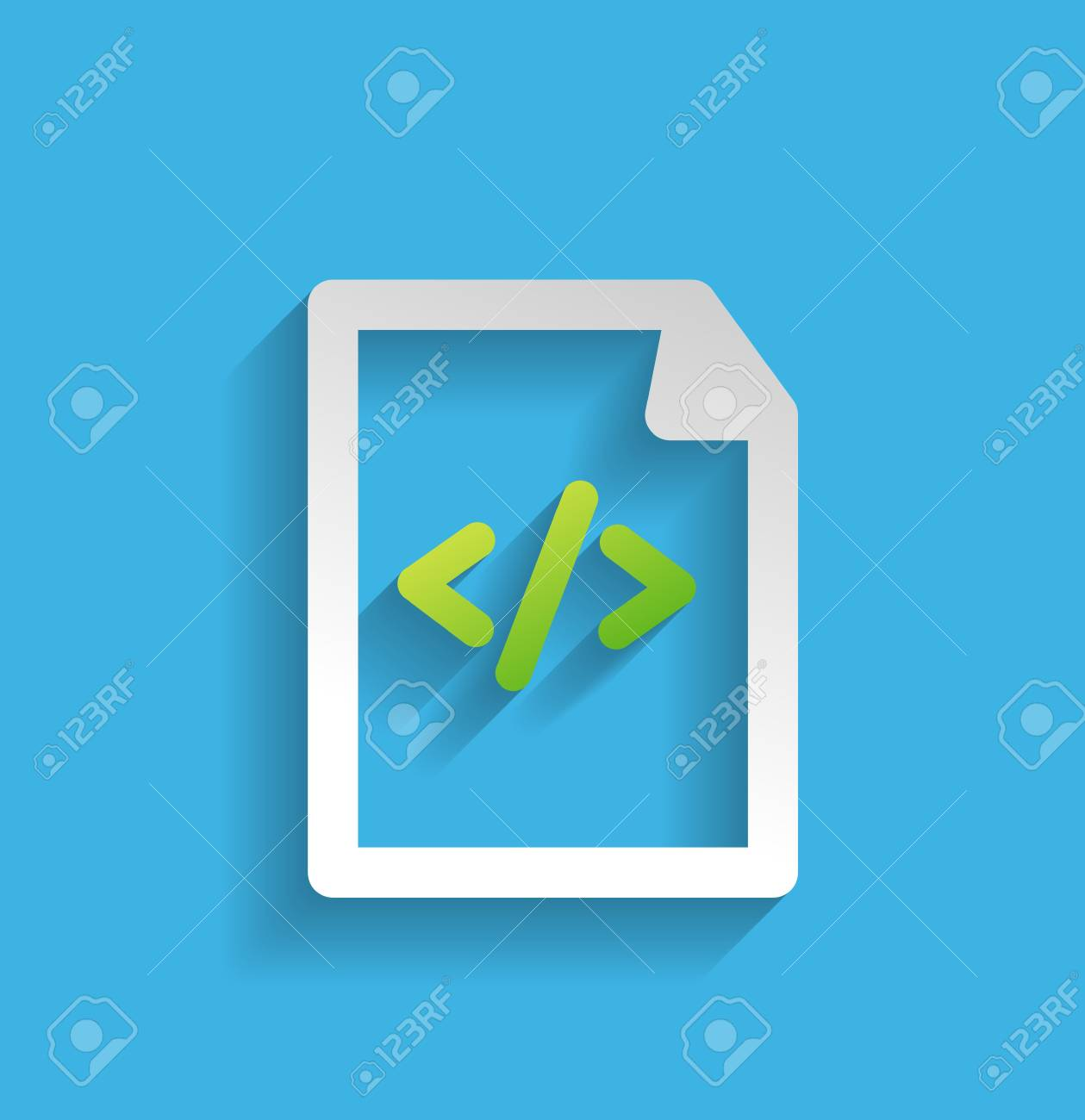 file / program flat icon Stock Vector - 21220456