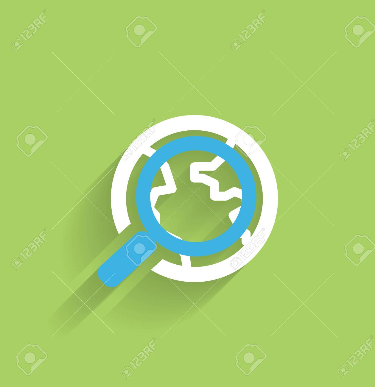 Search icon concept modern flat design Stock Vector - 21220462