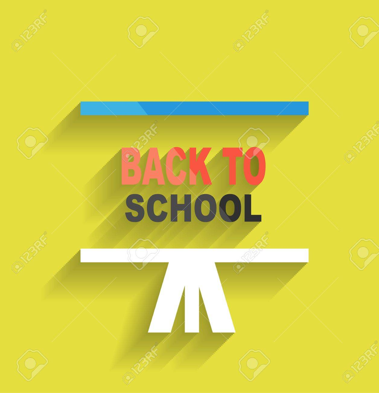 Back Icon Flat Back to School Concept Icon