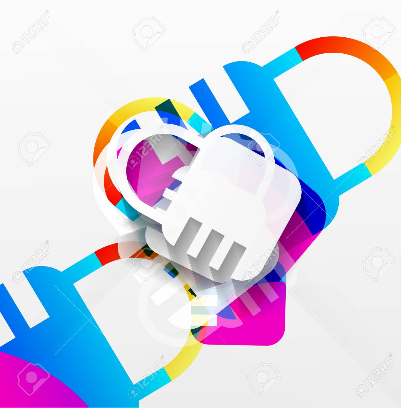 lock modern colorful design Stock Vector - 21269569