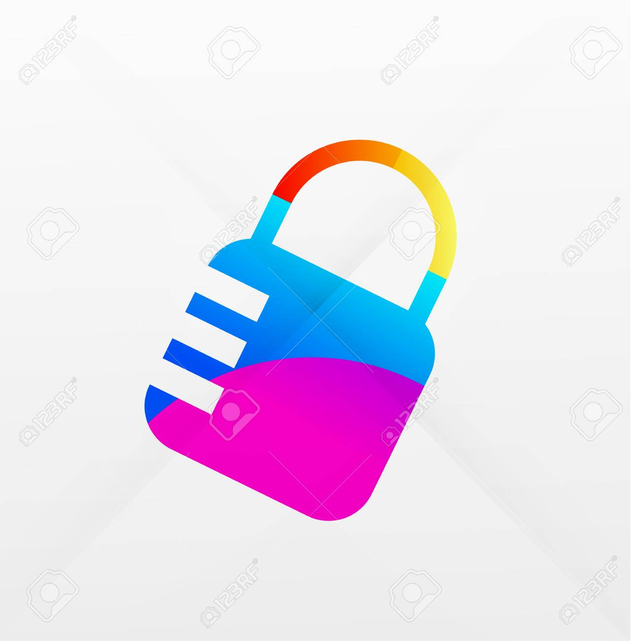 lock modern colorful design Stock Vector - 21269581