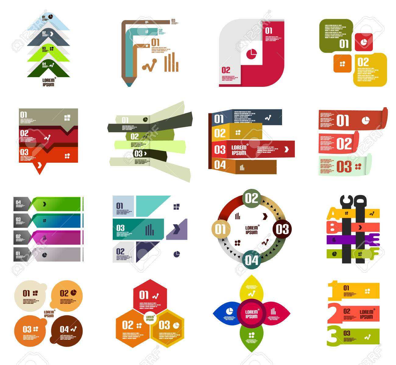 Set of modern infographic design templates and elements Stock Vector - 22554569