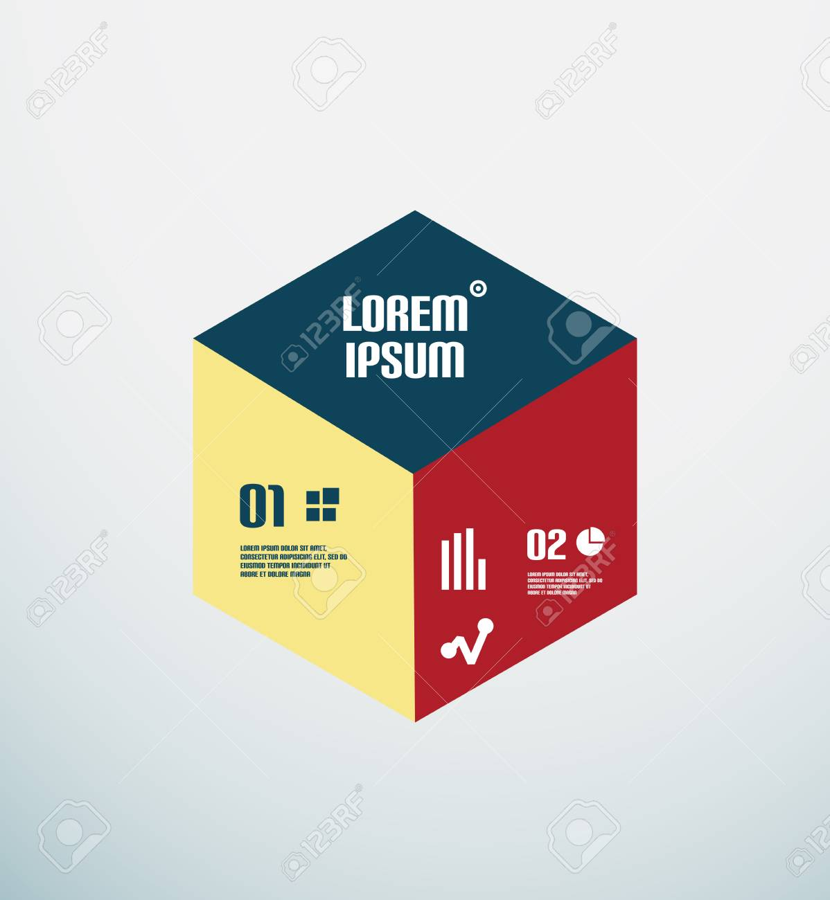 Modern geometrical infographic template Stock Vector - 22799552