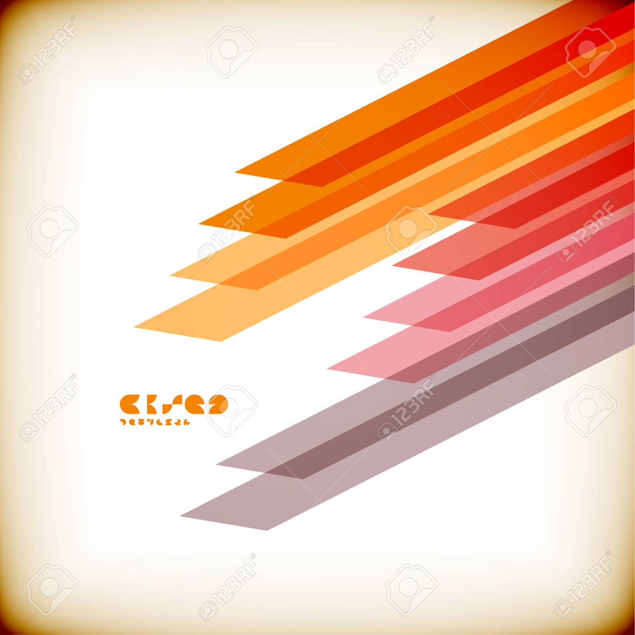 Vintage straight lines design template Stock Vector - 22799567