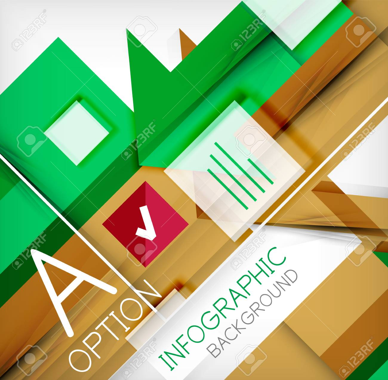Infographic abstract background - arrow geometric shape. For business presentation | technology | web design Stock Vector - 26210047