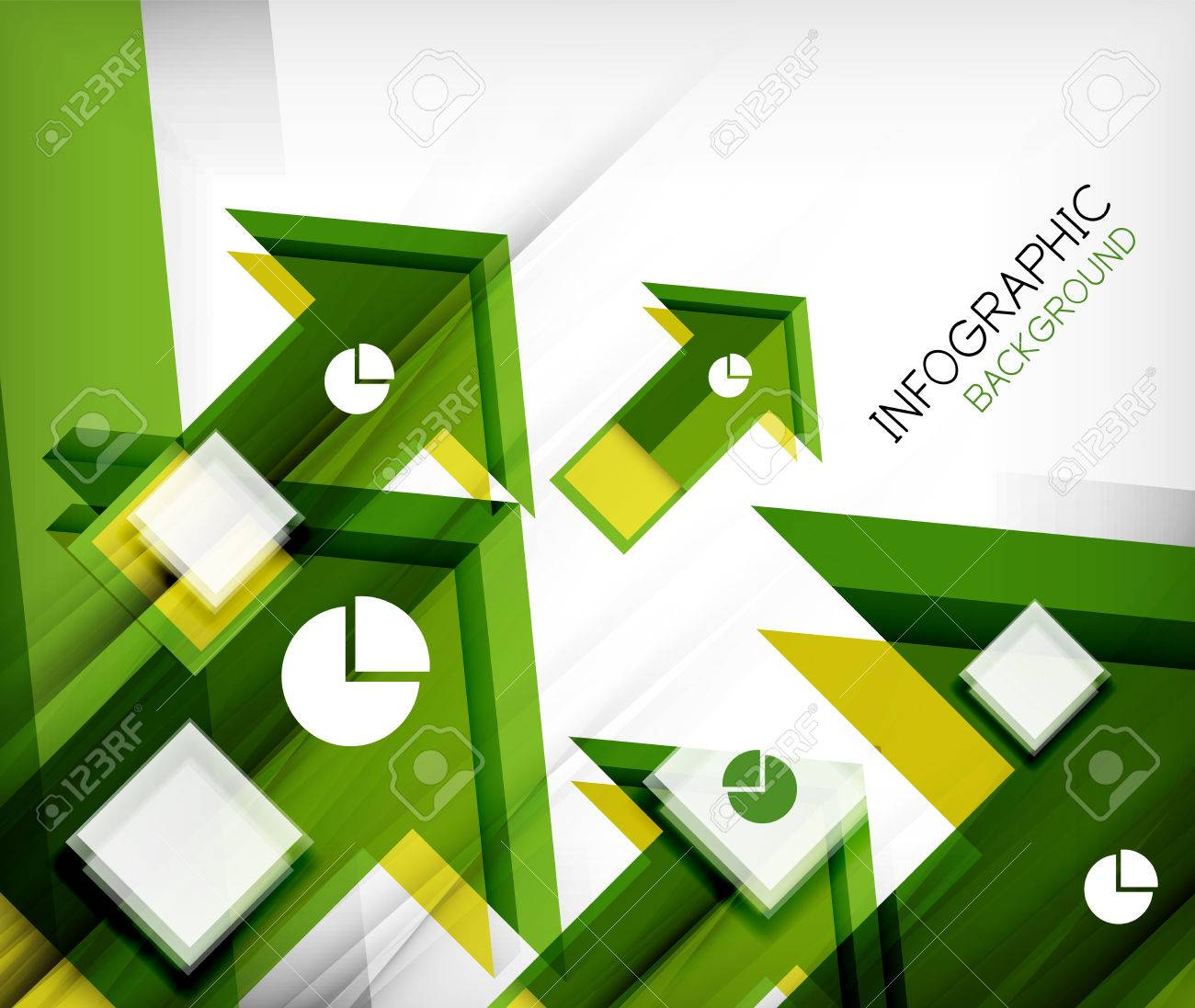 Infographic abstract background - arrow geometric shape. For business presentation | technology | web design Stock Vector - 26210058