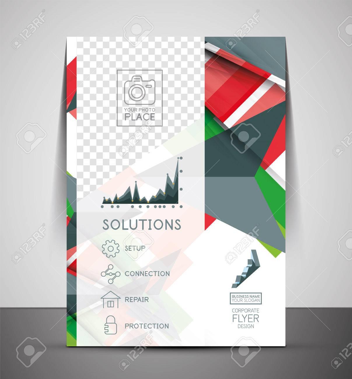 Cmyk Business Corporate Flyer Template Geometrical Design Royalty
