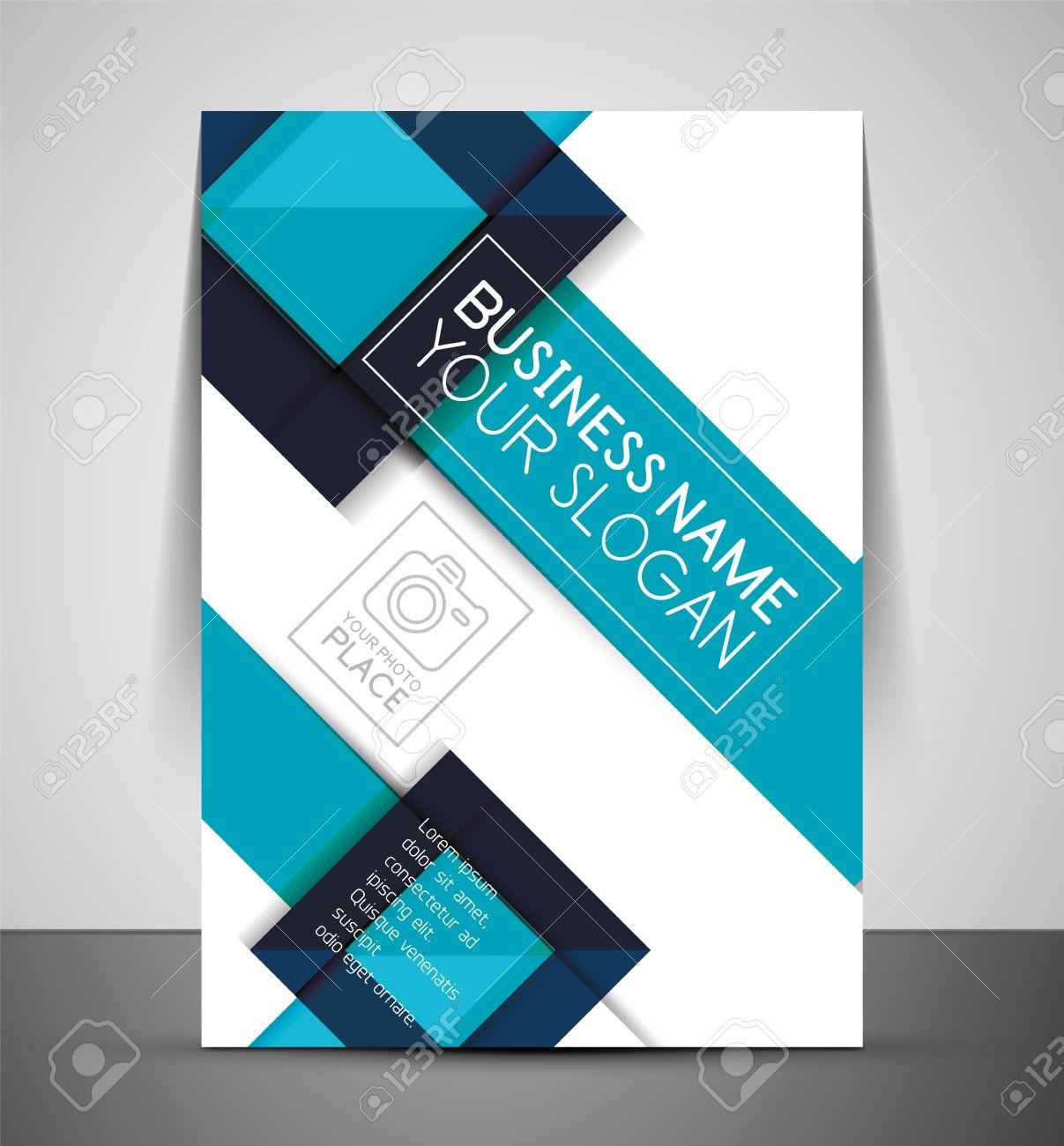 cmyk business corporate flyer template geometrical design cmyk business corporate flyer template geometrical design stock vector 27206916