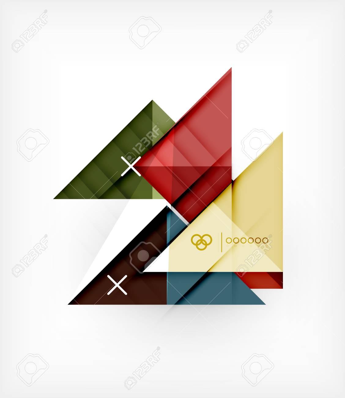 Booklet | Geométrica Del Vector Plantilla De Diseño Para Folletos ...