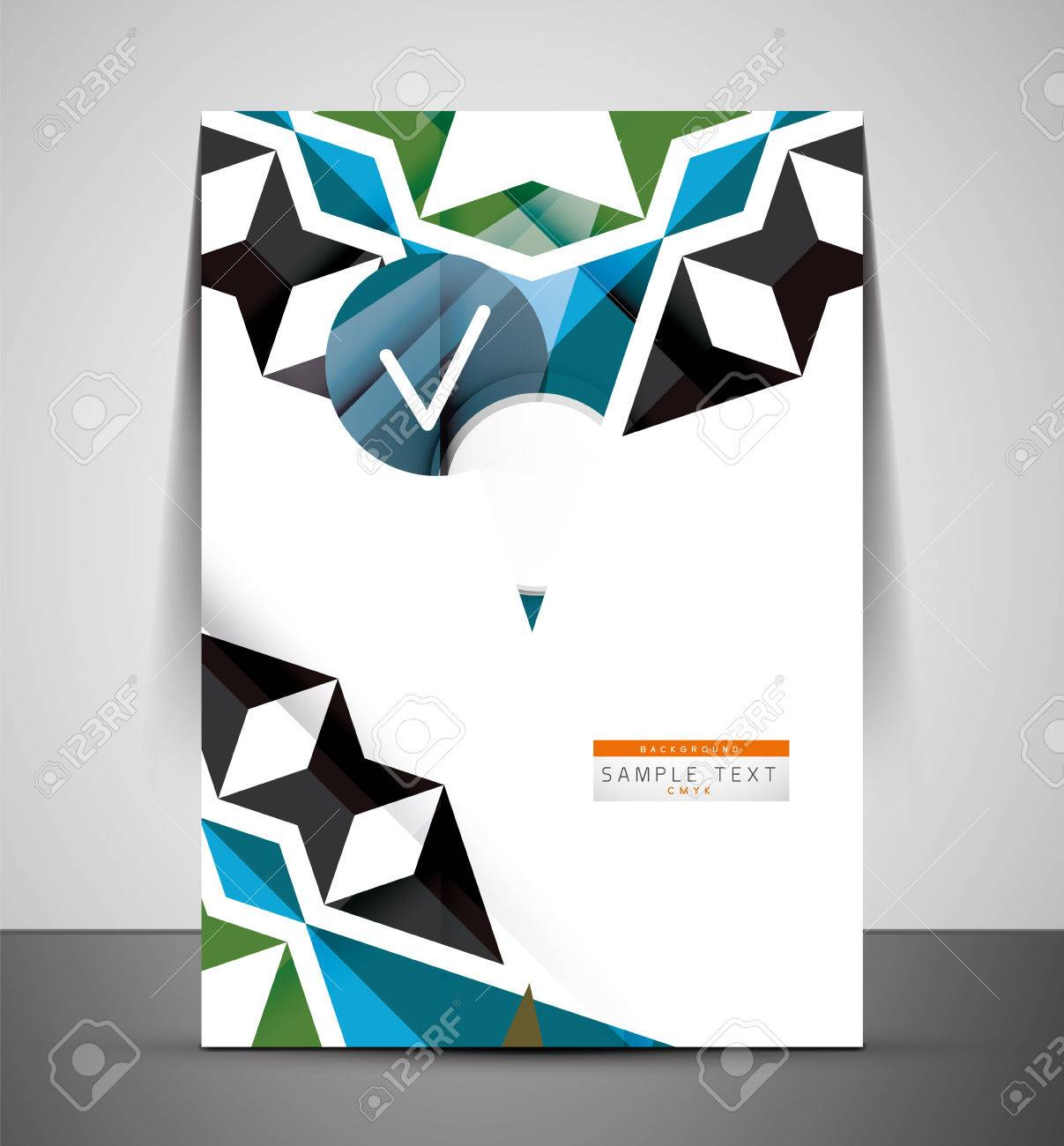cmyk business corporate flyer template geometrical design cmyk business corporate flyer template geometrical design stock vector 27687200