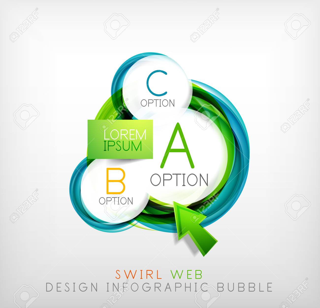 swirl web design infographic bubble flat concept can be used