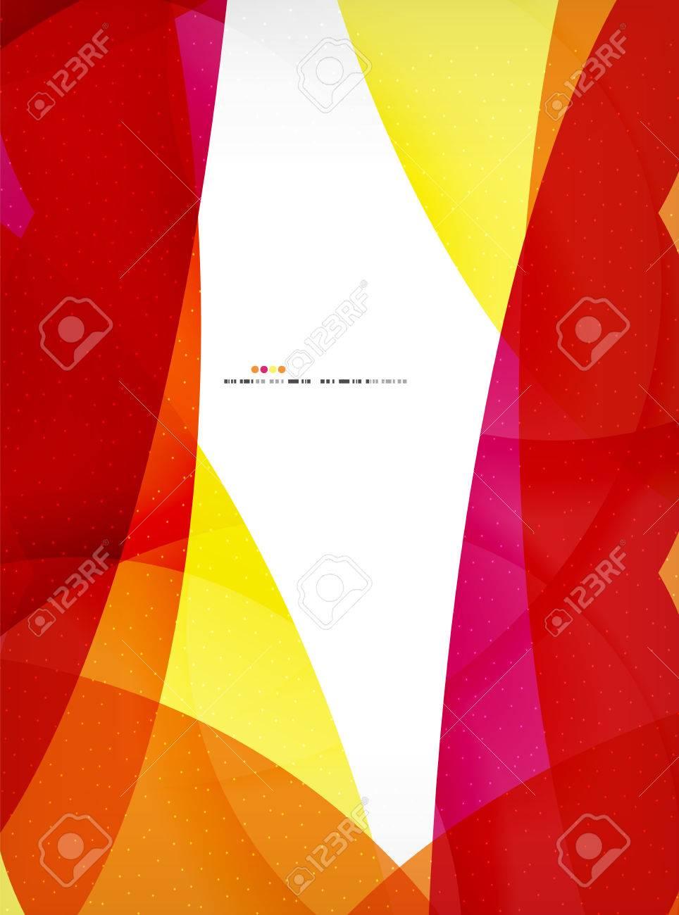 Formas Geométricas Grandes Plantilla De Negocios Corporativos. Fluye ...