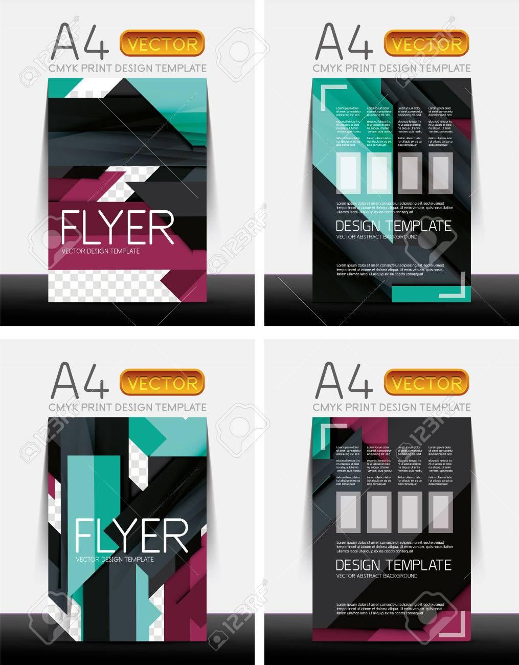 Abstrakte Moderne Flyer Broschüre Design Vorlagen-Sammlung Mit ...