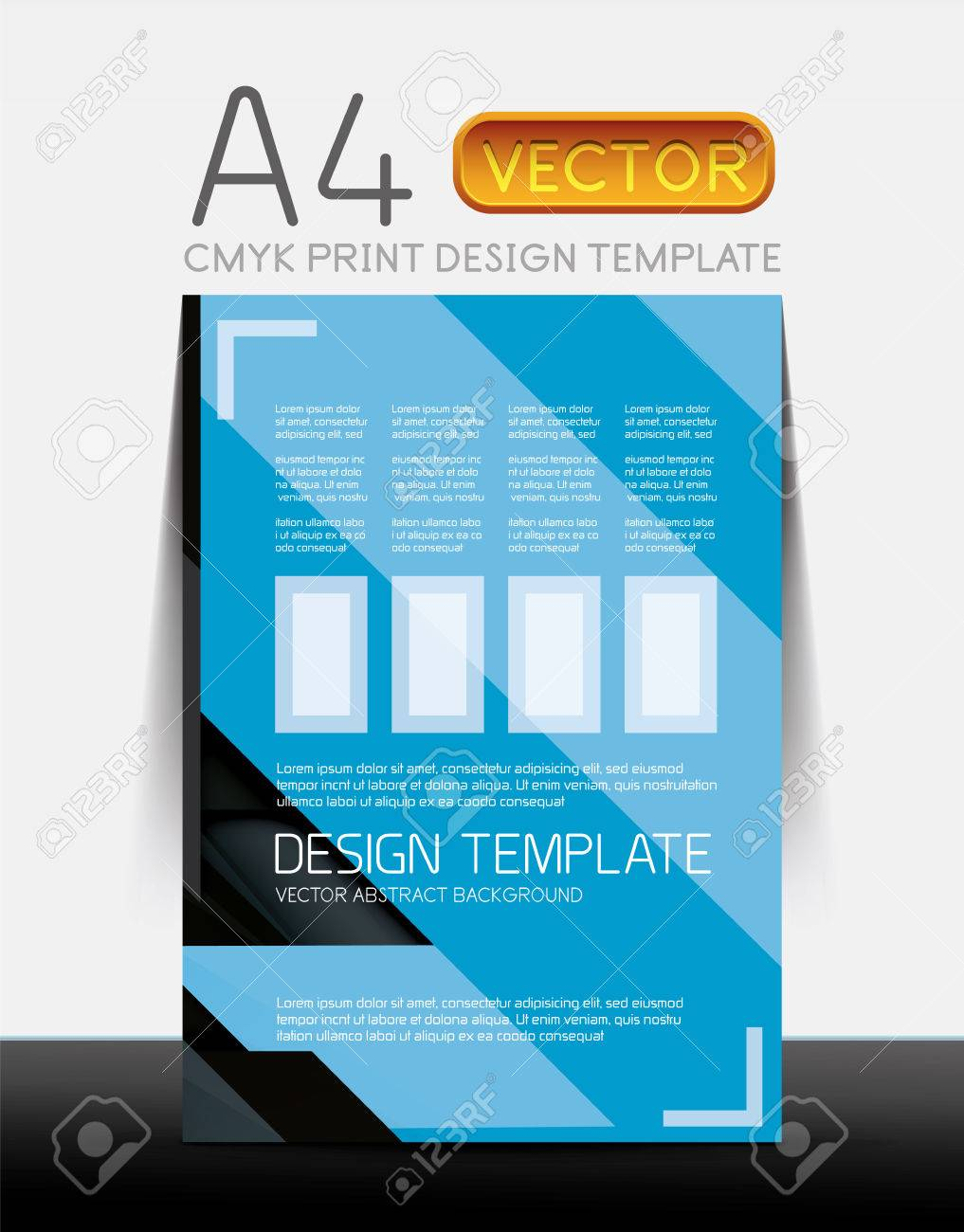 abstract modern flyer brochure design template sample text abstract modern flyer brochure design template sample text or business a4 booklet cover stock vector