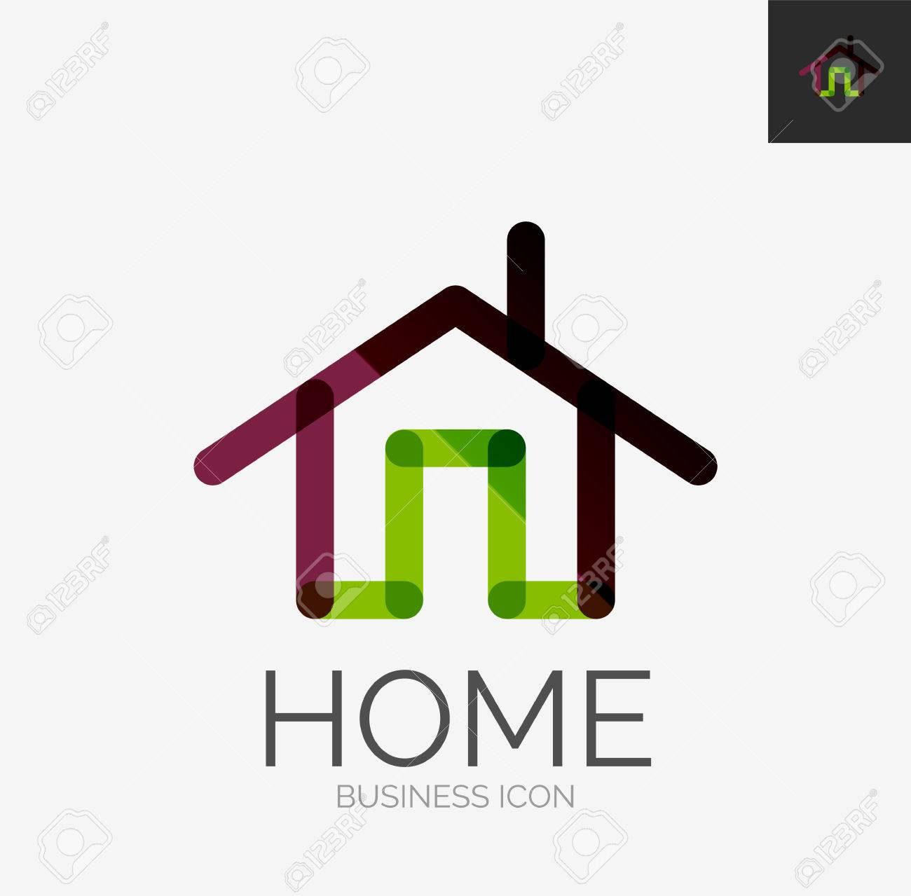 minimal line design logo home icon royalty free cliparts vectors rh 123rf com home icon vector free download home icon vector free download
