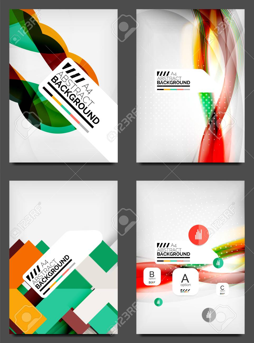Set Of Flyer Templates Business Web Layouts Modern Business
