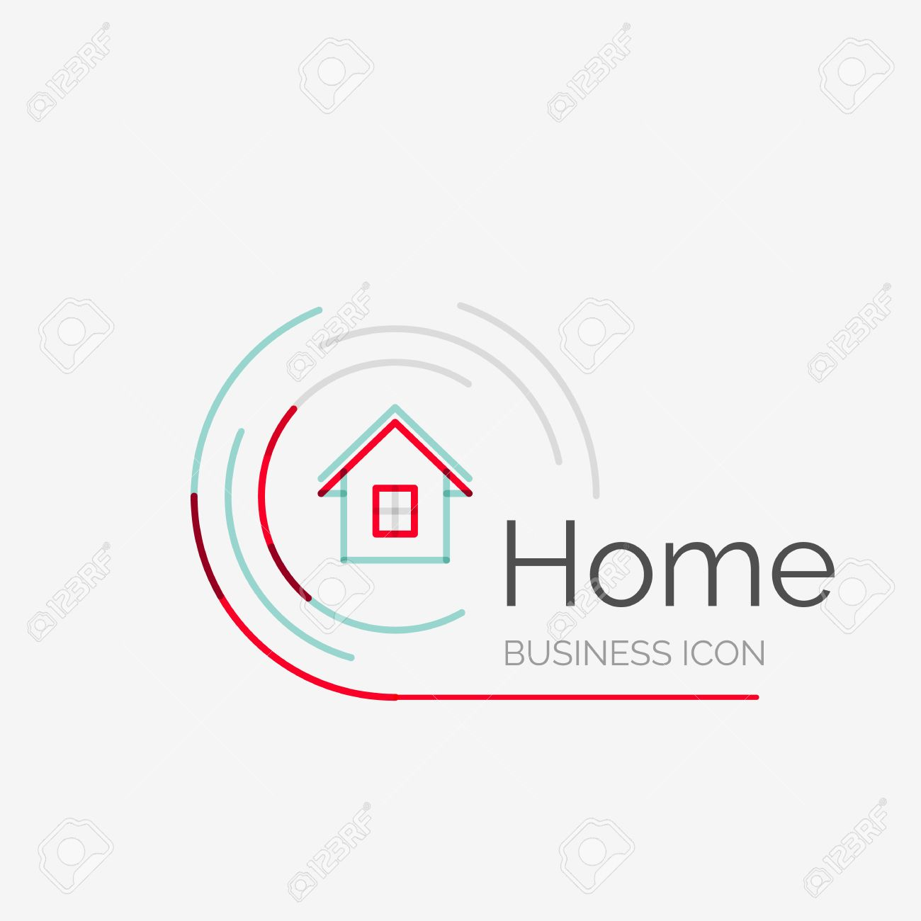 thin line neat design logo clean modern concept home house thin line neat design logo clean modern concept home house idea stock vector