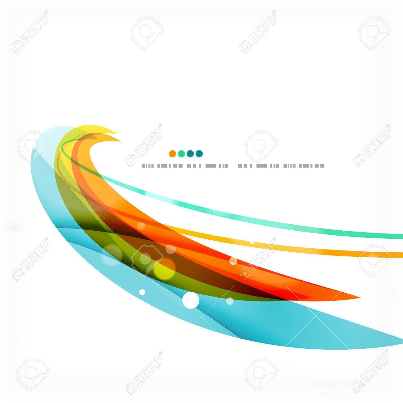 Orange Wave Design Wave Lines Light Design