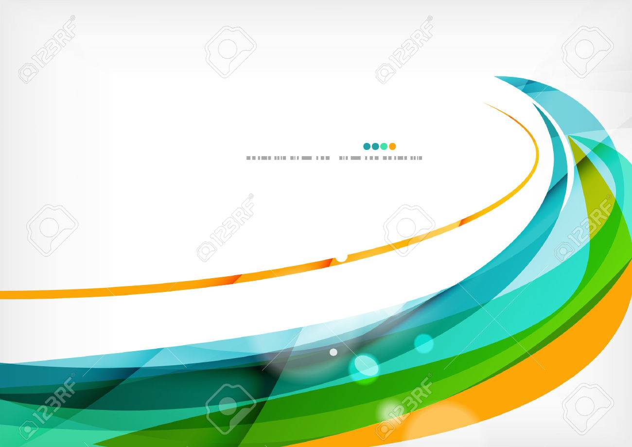 Green orange yellow colors shiny line concept Stock Vector - 38323947