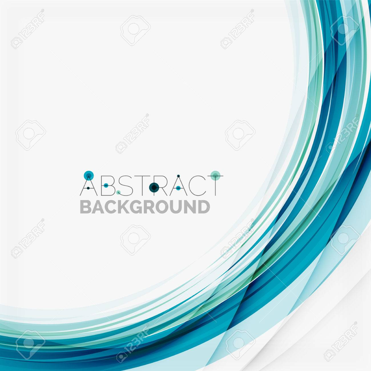 Blue wave abstract background - 40810818