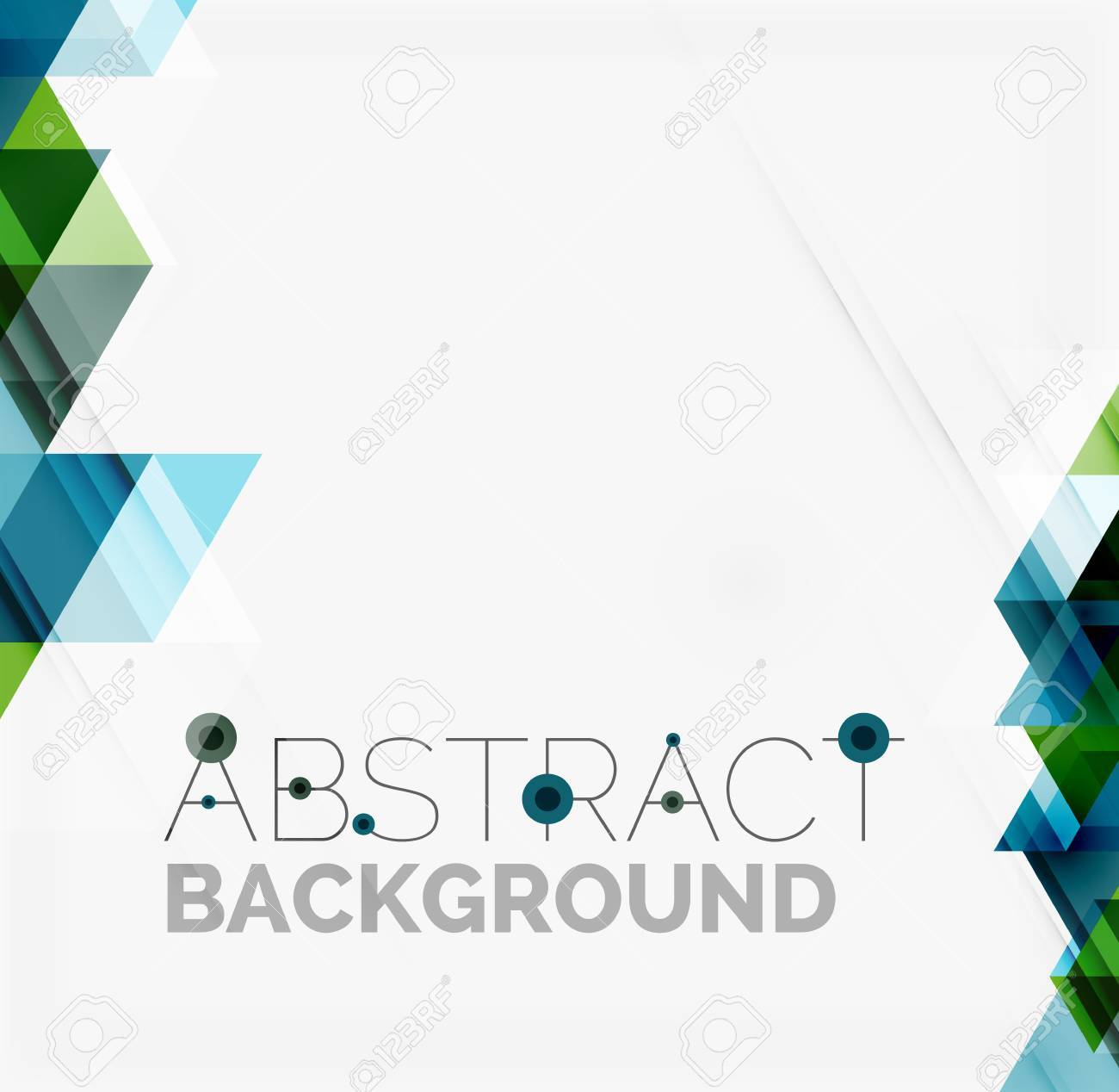 Abstract geometric background. Modern overlapping triangles - 40810894
