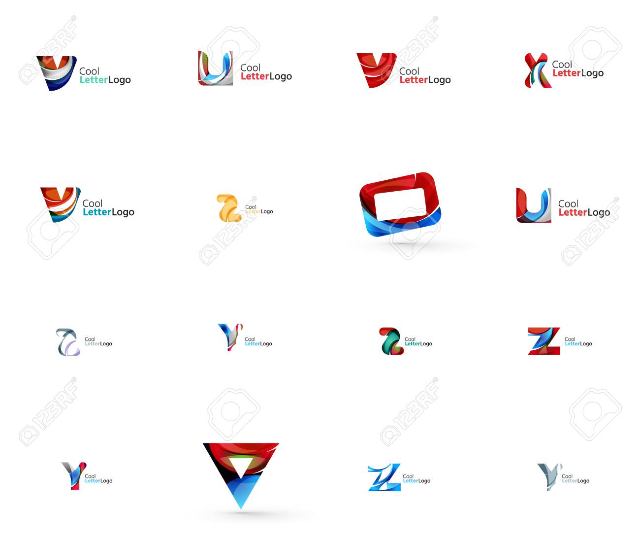 Set Of Universal Company Logo Ideas Business Icon Collection
