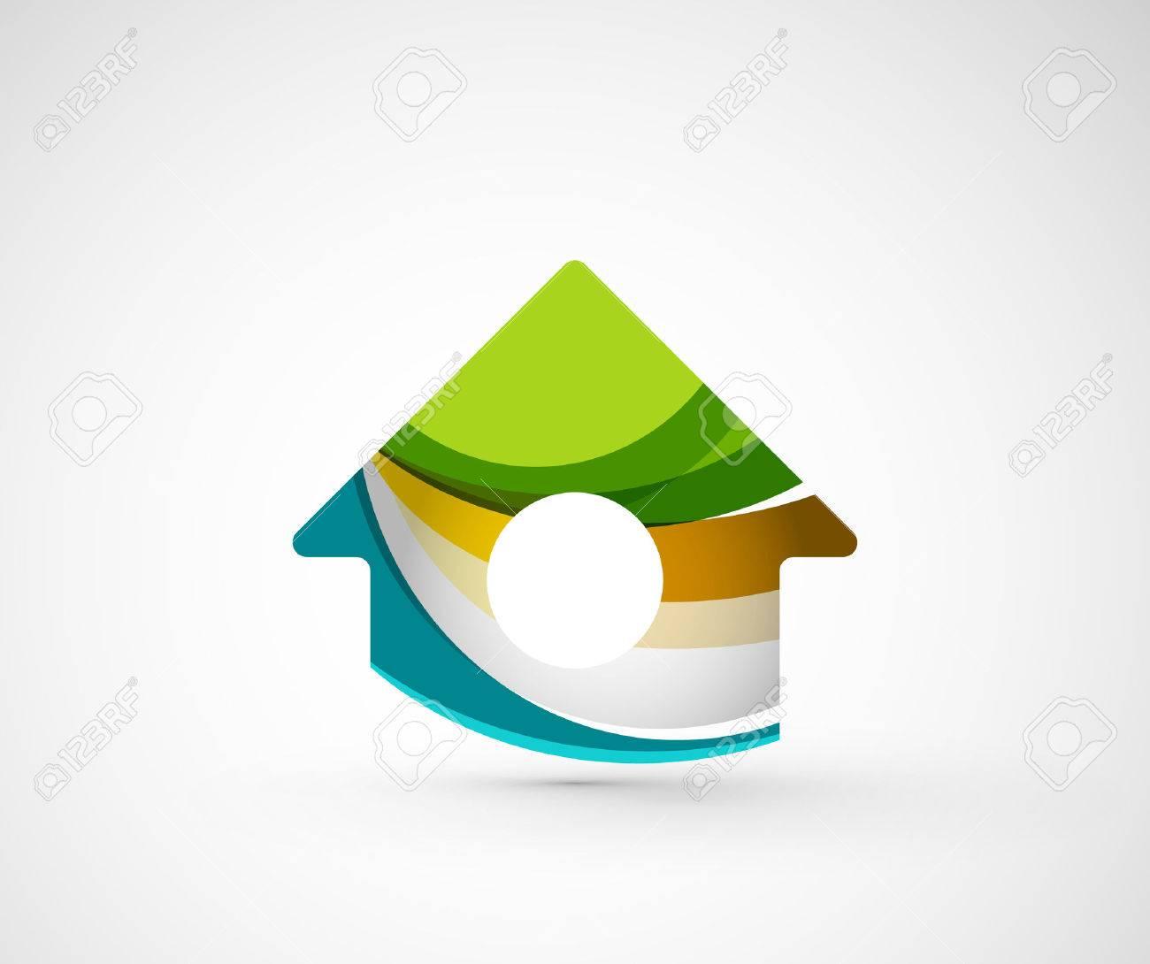Souvent Résumé Société Géométrique Logo Maison, Bâtiment. Vector  TI63