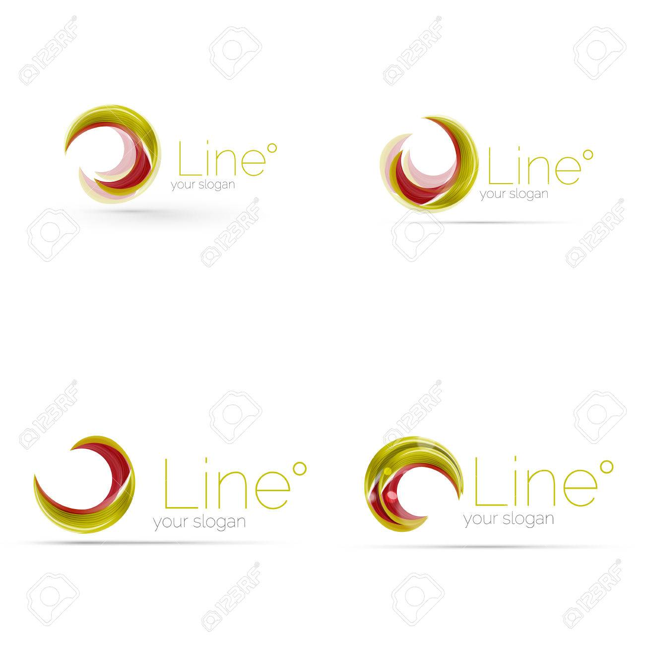 Swirl company logo design. Universal for all ideas and concepts...