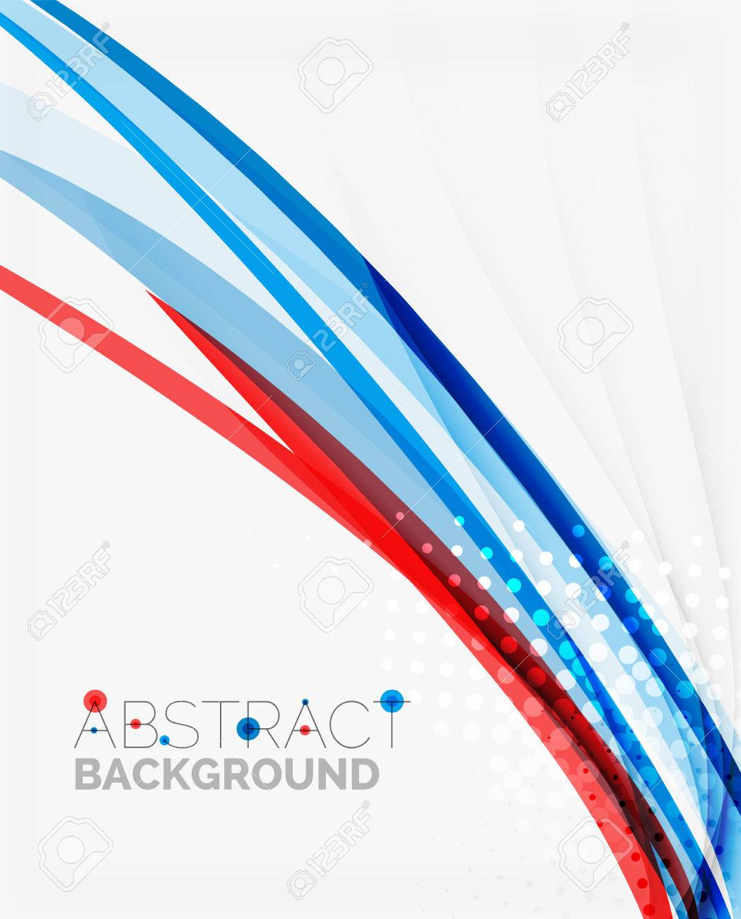 Fresh Blue And Red Wave Line Abstract Background