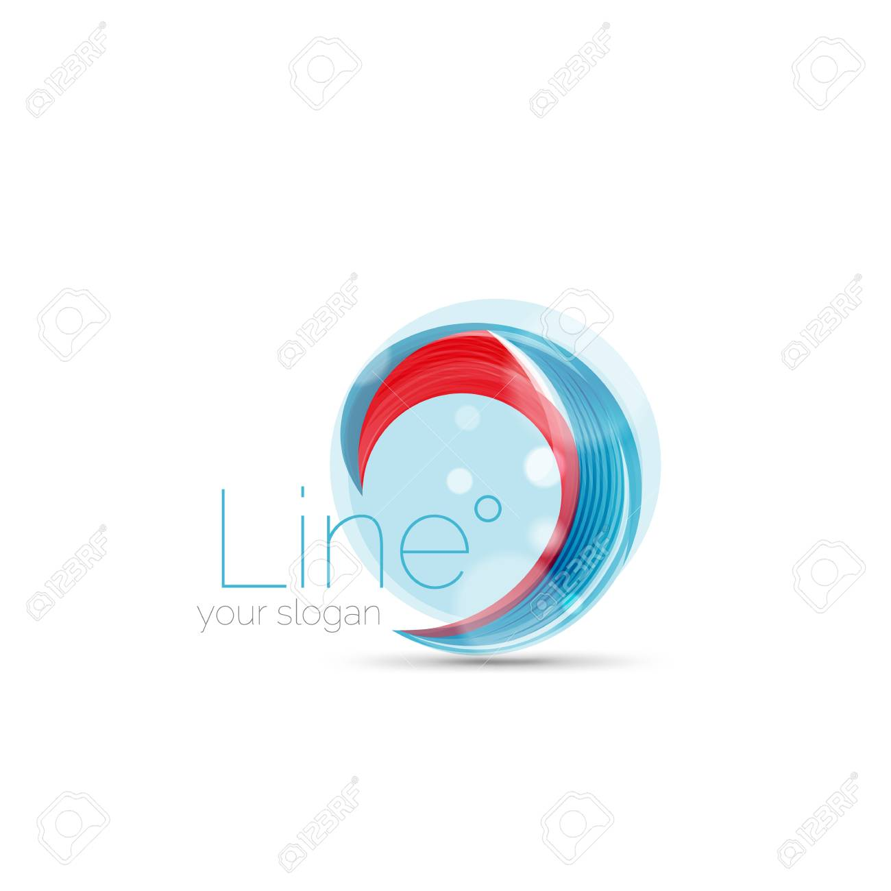 swirl blue red company logo design universal for all ideas and