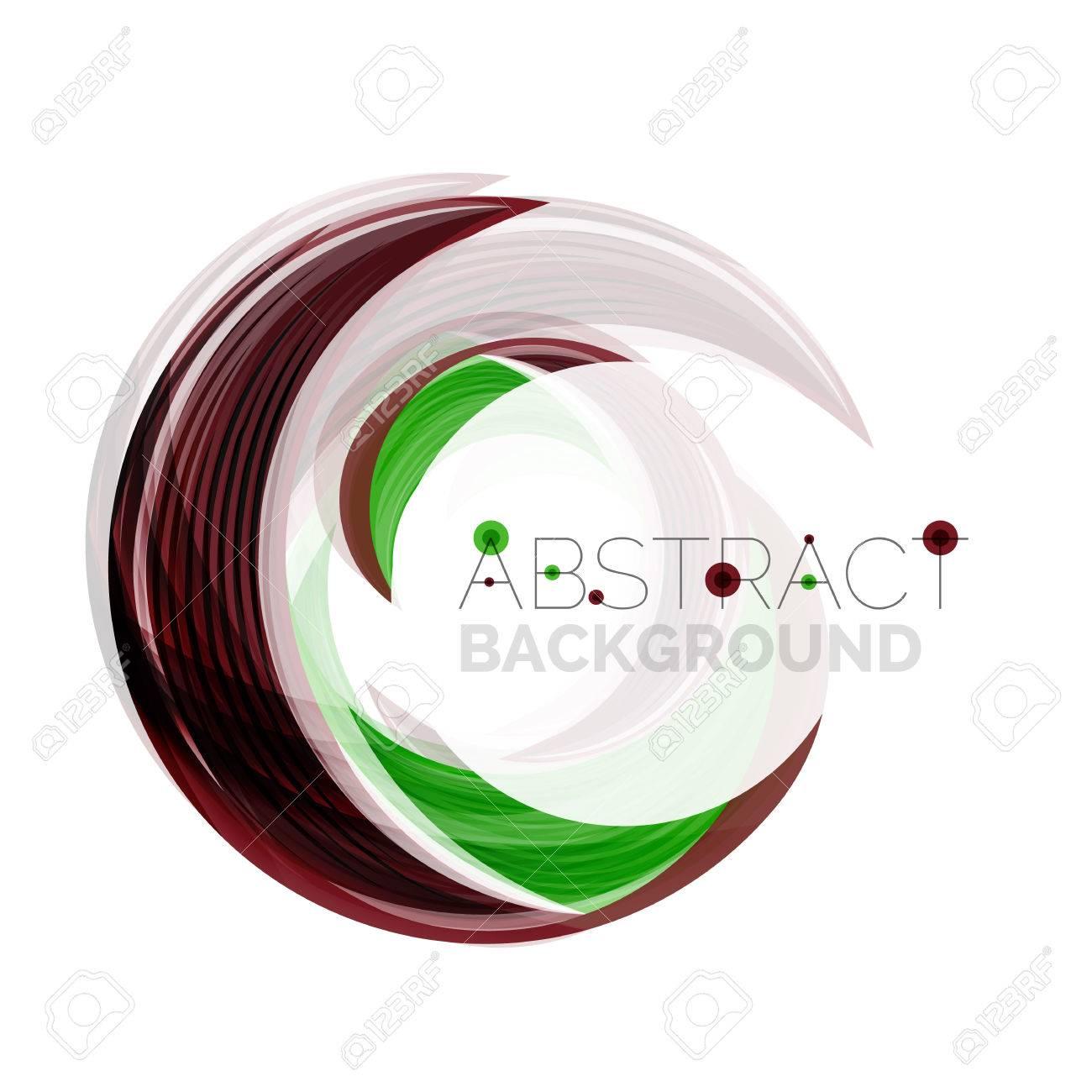 ベクトル緑渦巻線の抽象的な背景。あなたのメッセージ、スローガン ...