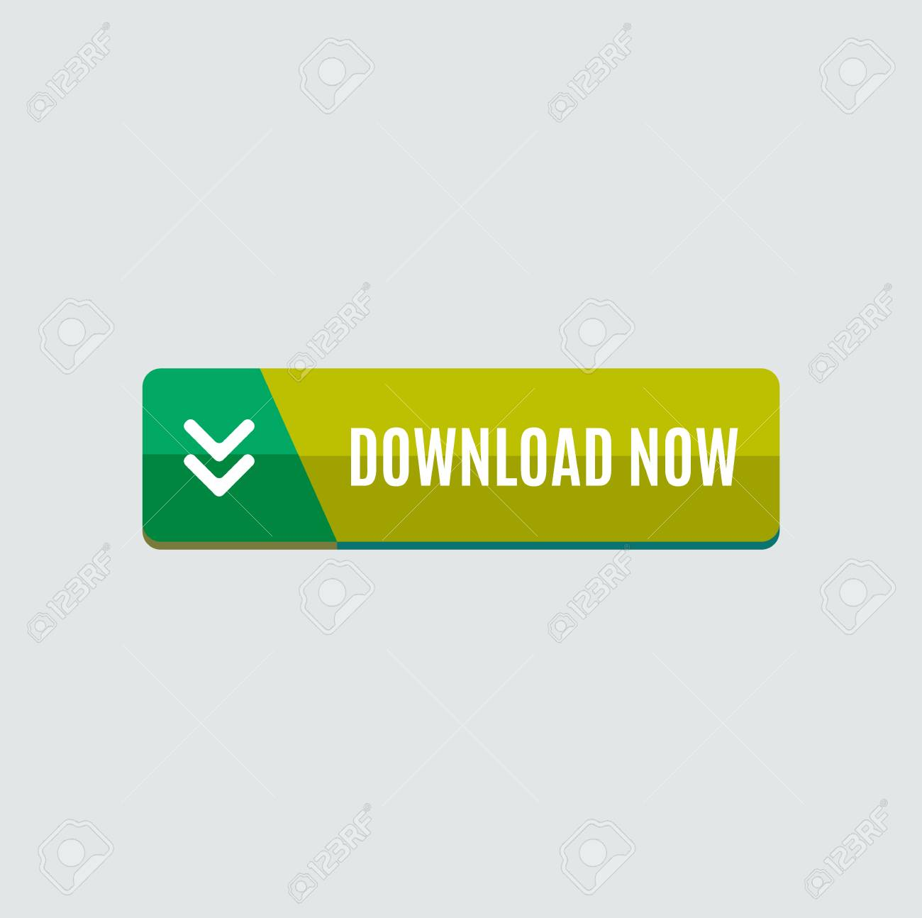 Colorful download web button with arrow  Modern flat design,