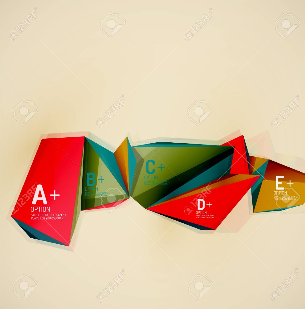 3d geometric shapes in the air  Vector abstract background  Business