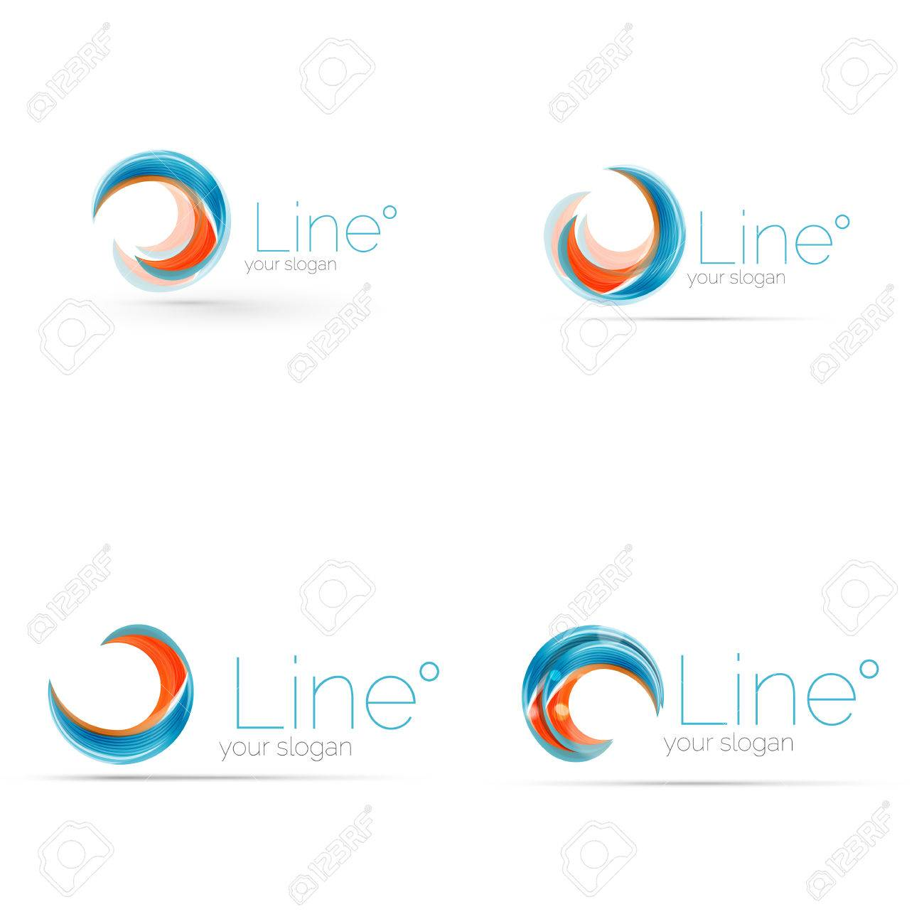 Swirl Blue Orange Company Logo Design. Universal For All Ideas And  Concepts. Business Creative