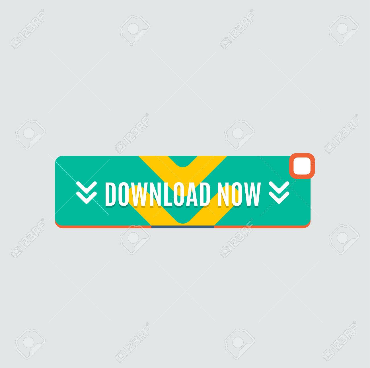 Download Button Flat