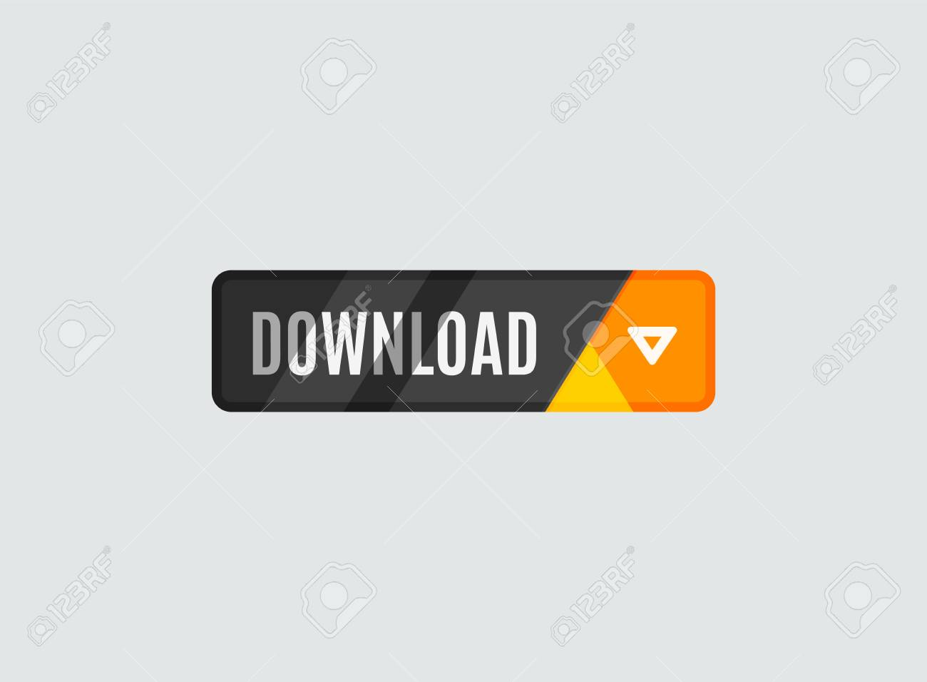 Download button, futuristic hi-tech UI design