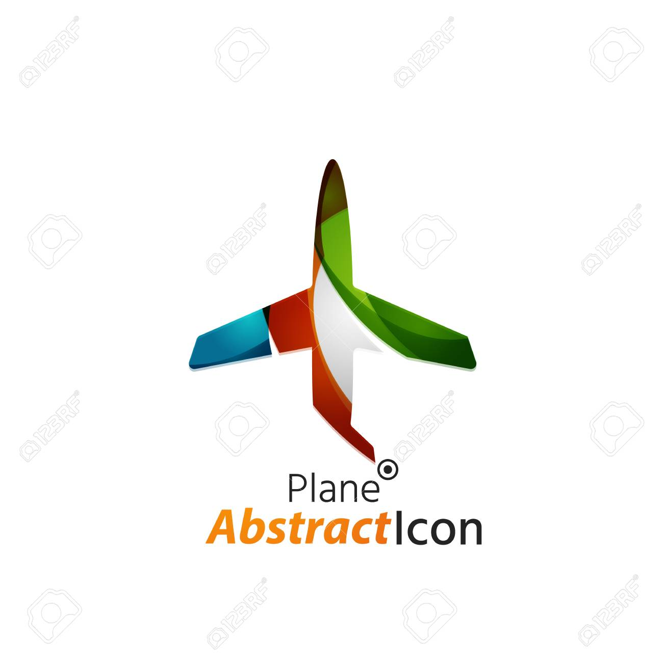 abstract geometric business corporate emblem airplane logo