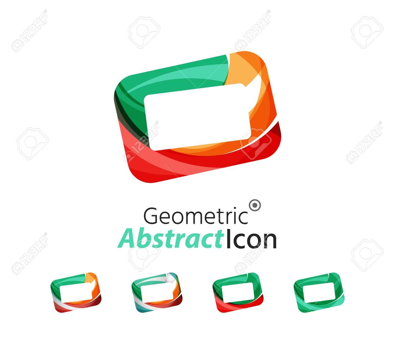 Set Of Abstract Geometric Company Logo Frames, Screens. Vector ...