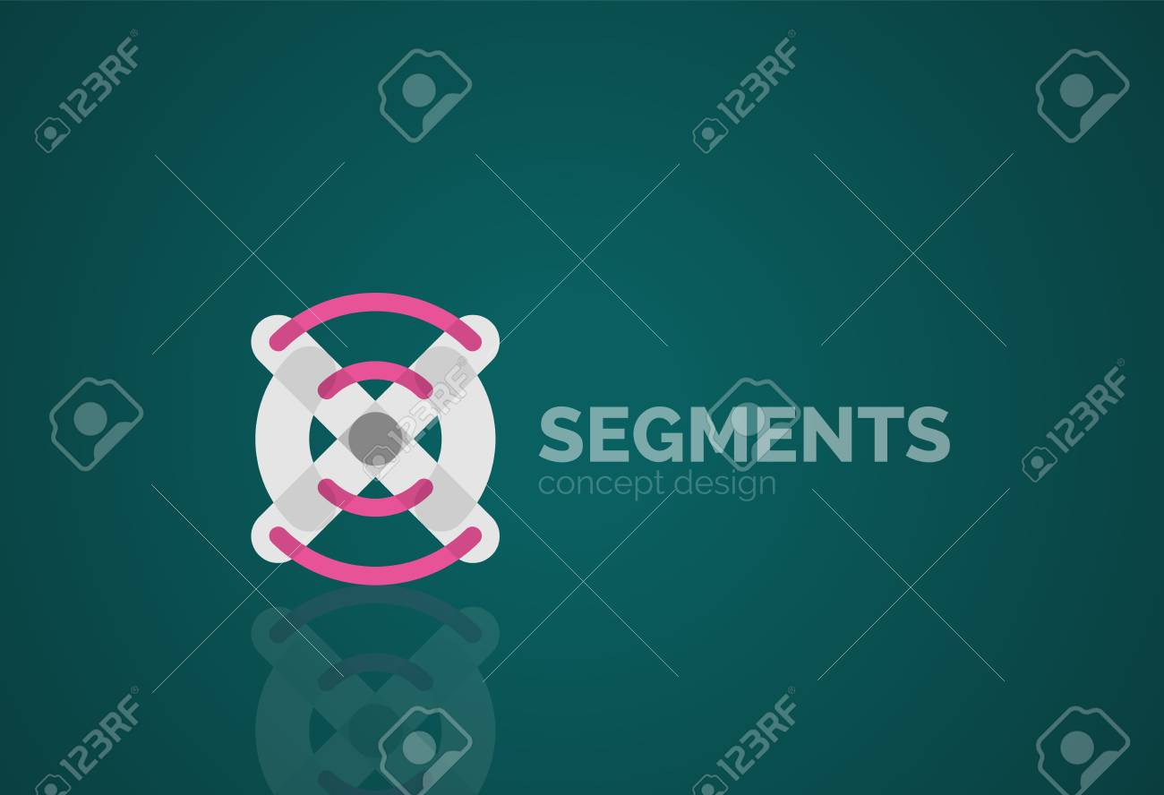 Outline Minimal Abstract Geometric Linear Business Icon Made