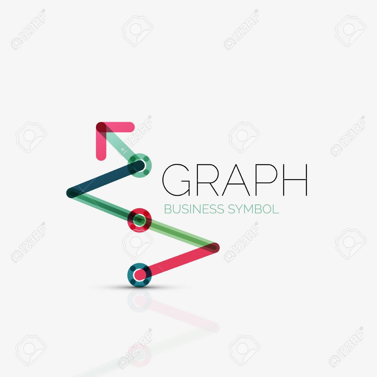 Vector abstract logo idée, linéaire tableau ou un graphique icône  d'affaires  modèle de conception de logotype Creative faite de segments de