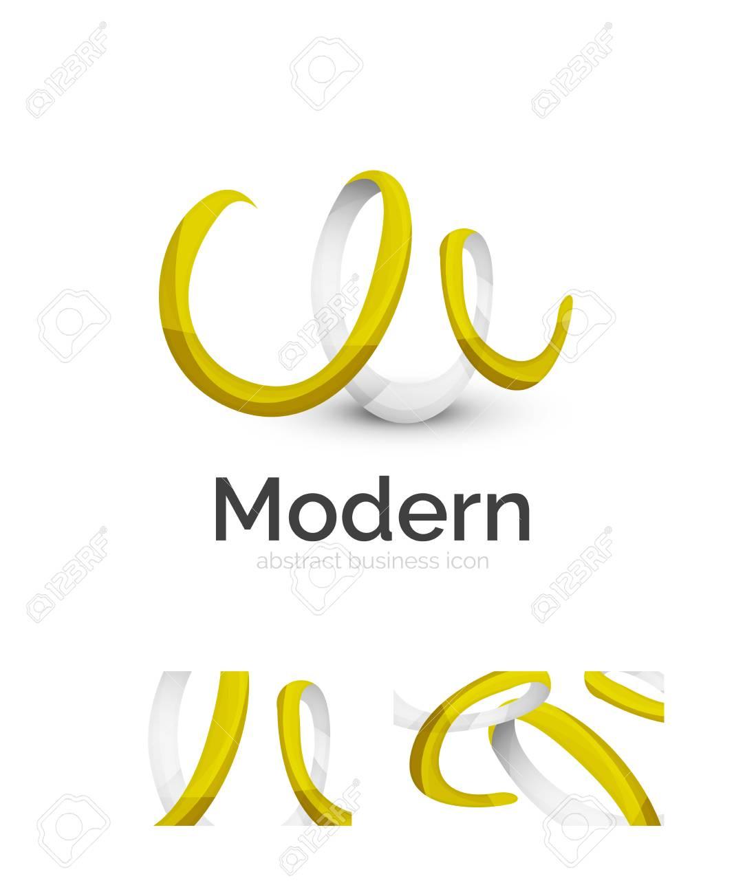 Abstract 3d Ruban De Remous Logo Modle Avec Carte Visite Identit Visuelle Dentreprise