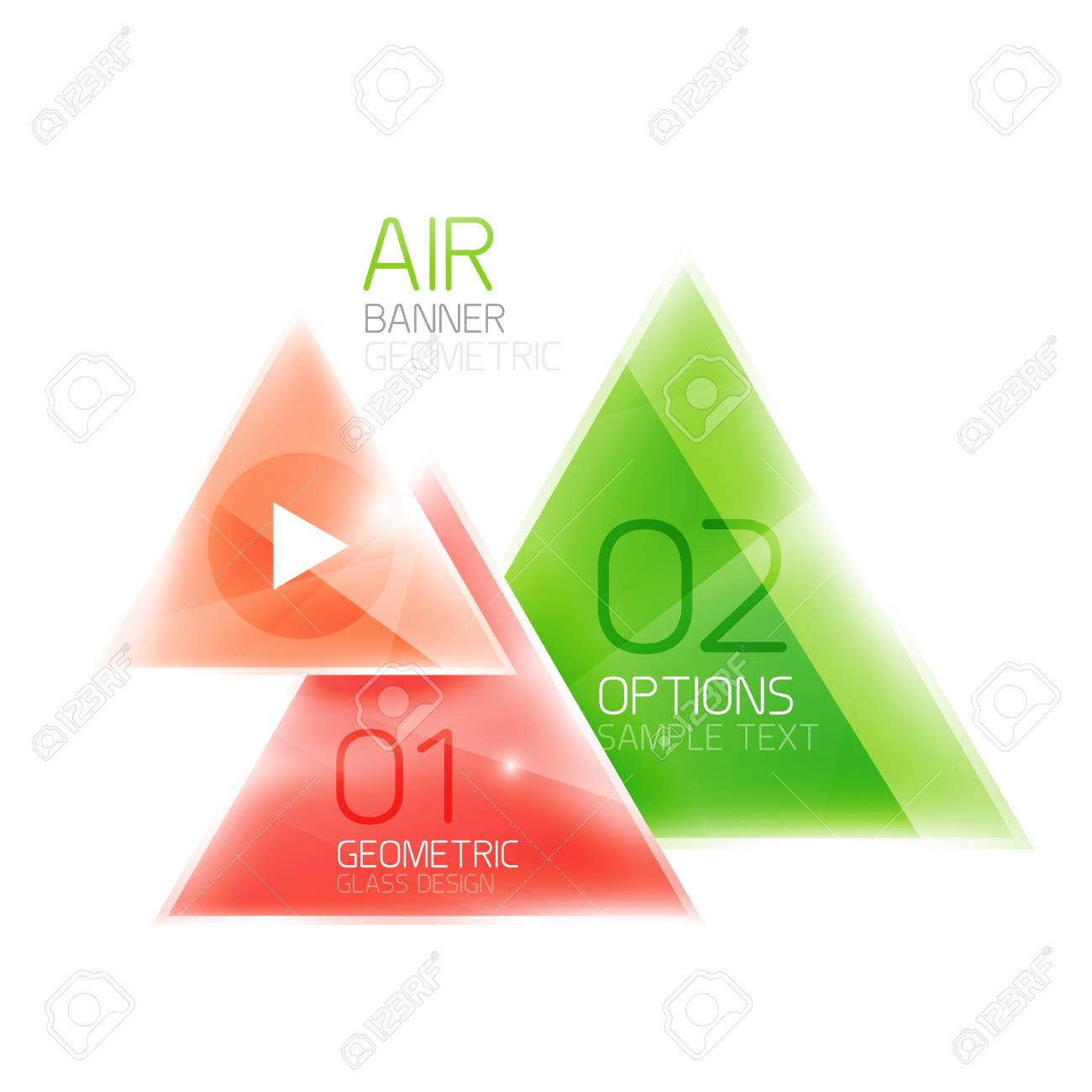 air triangle abstract background 3d geometric vector template