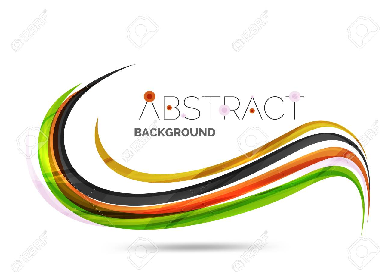 Wavy glossy futuristic swirl color curve stripes and lines vector wavy glossy futuristic swirl color curve stripes and lines in motion concept and with light and shadow effects presentation banner and business reheart Images