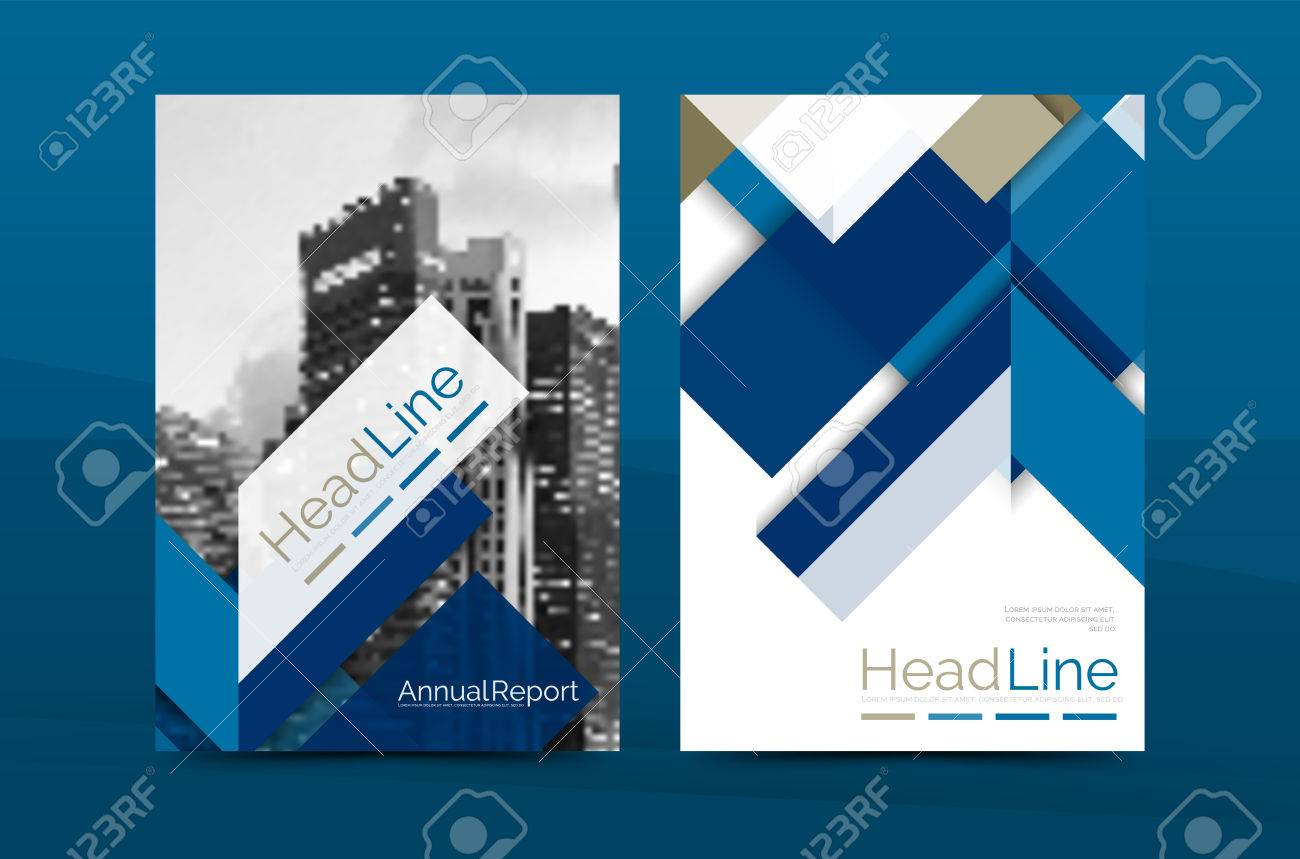 Farbe Business-Broschüre Cover-Vektor-Vorlage, Geschäftsbericht ...